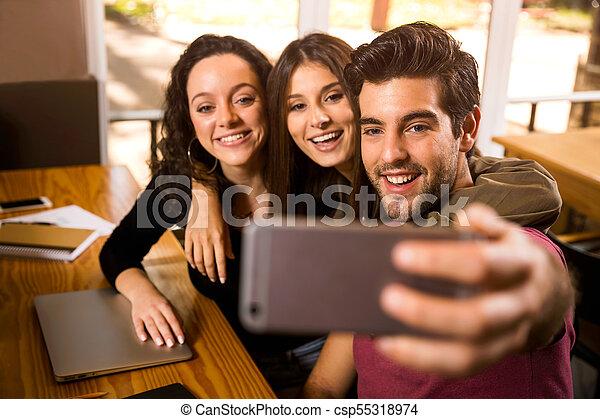 Students Selfie - csp55318974