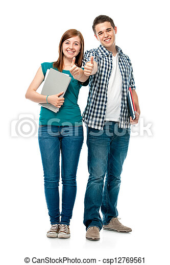 students showing thumbs-up - csp12769561