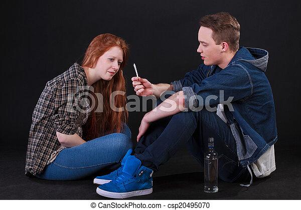 smoking drinking