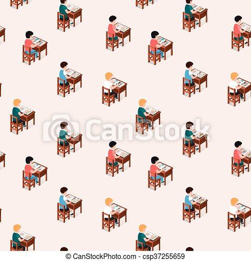 Pupils At School Flat Illustration Stock Vector - Illustration of break,  naughty: 159415325