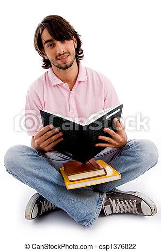studerend , werkende, jonge, student - csp1376822