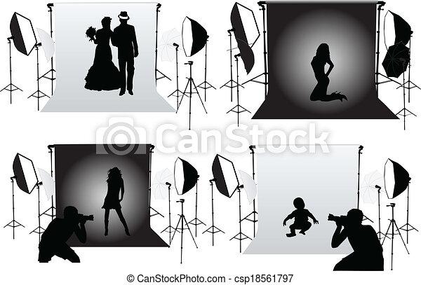 studio, photographie, -, photo, séances - csp18561797