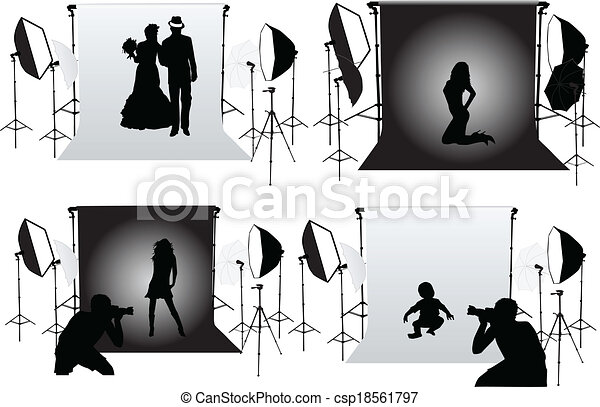 Studio Photography - photo sessions - csp18561797
