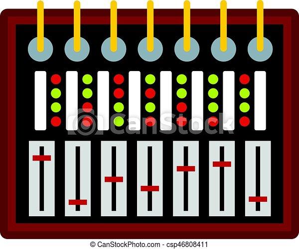 Studio sound mixer icon isolated - csp46808411