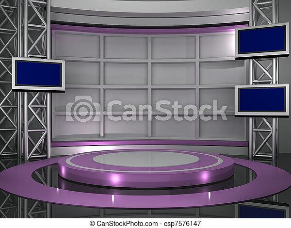 studio télé - csp7576147
