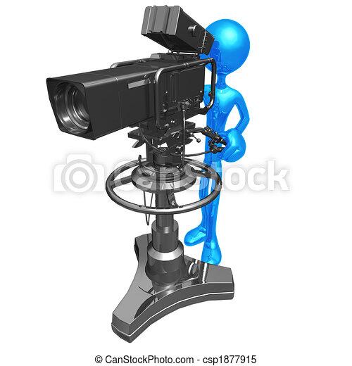 studio television camera 3d concept and presentation figure