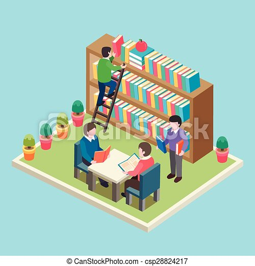 study in the library concept - csp28824217
