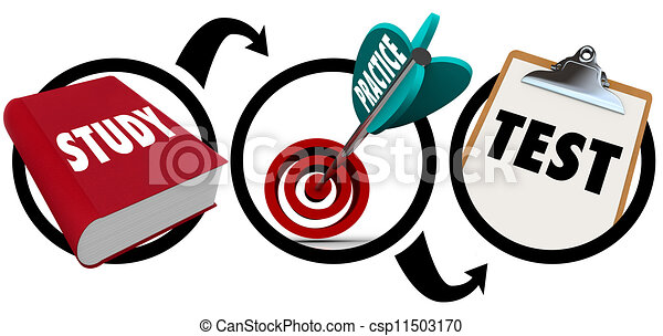 study practice test principiles of learning education a diagram or rh canstockphoto com test clipart png test clip art images