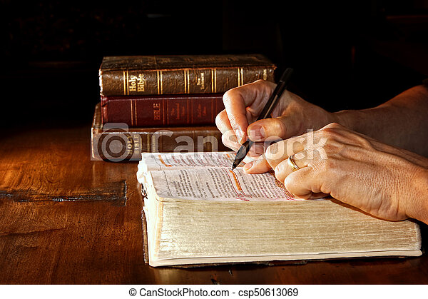 Studying The Holy Bible - csp50613069