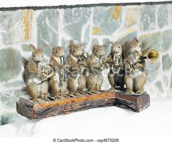 stuffed squirrels band - csp4870226