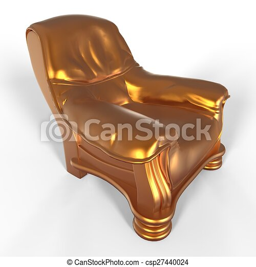 stuhl farben gold metallisch stock illustration - Stuhlfarben