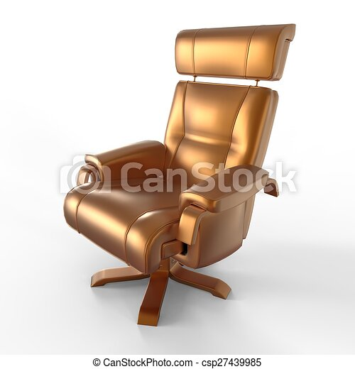 Stuhl Farben Gold Metallisch Gold Freigestellt Metallisch