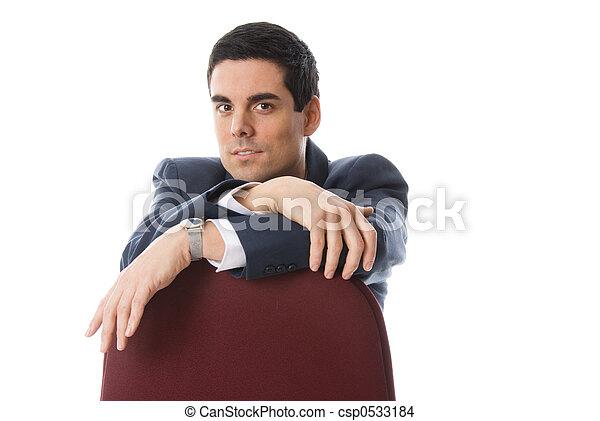 Mann auf dem Stuhl - csp0533184