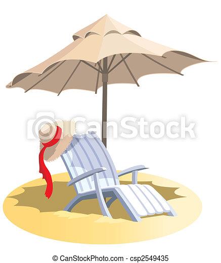 Liegestuhl mit sonnenschirm clipart  Sand chair Illustrationen und Stock Kunst. 2.711 Sand chair ...