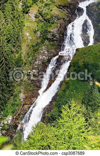 Stuibenfall - the lagest waterfall in Tirol, Austria - csp3087689