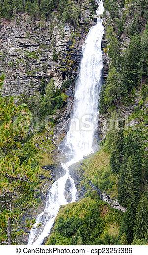 Stuibenfall waterfall in Austria - csp23259386
