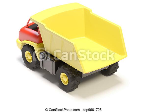 stuk speelgoed vrachtwagen - csp9661725