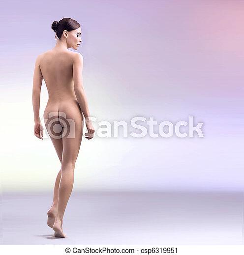 Stunning female beauty taking bath - csp6319951