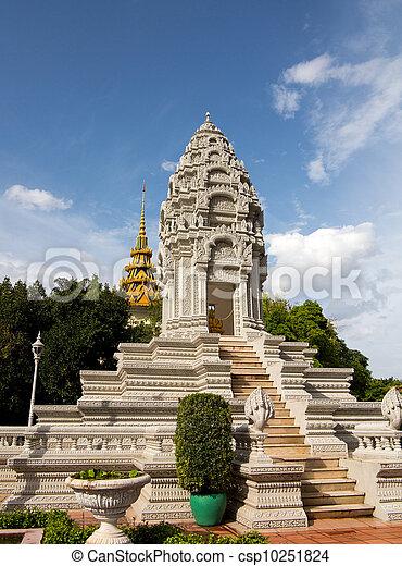 Stupa by Royal Palace Cambodia - csp10251824