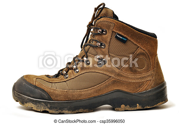 Sturdy hiking boots. A hiking shoes and