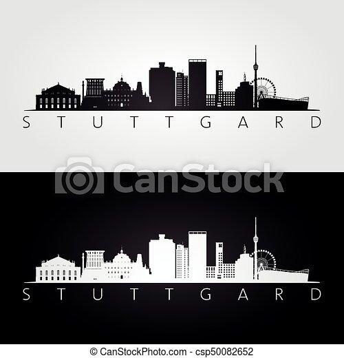 Stuttgart skyline silhouette wahrzeichen illustration for Meine wohnung click design download