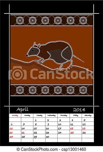styl, aborigeno, calandrare, basato - csp13001460