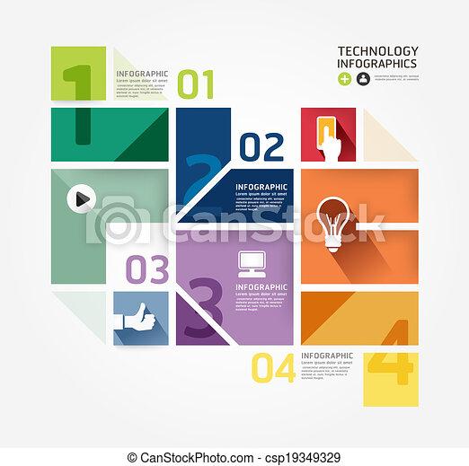 styl, czuć się, albo, może, minimalny, nowoczesny, template., website, .graphic, infographics, wektor, infographic, projektować, używany, układ - csp19349329