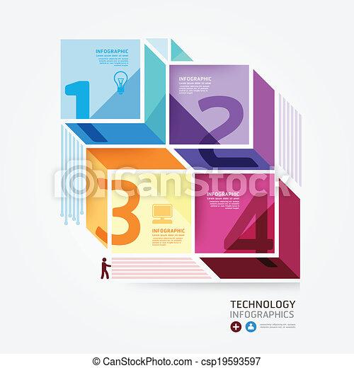 styl, czuć się, albo, może, minimalny, nowoczesny, template., website, .graphic, infographics, wektor, infographic, projektować, używany, układ - csp19593597