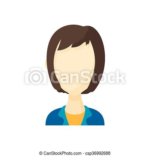 Styl Kobieta Fryzura Avatar Kare Ikona Rysunek Kobieta
