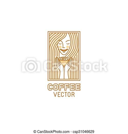 styl, linearny, wektor, projektować, szablon, modny, logo - csp31046629