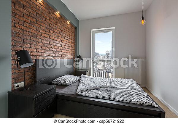 Styl Przemysłowy łóżko Sypialnia