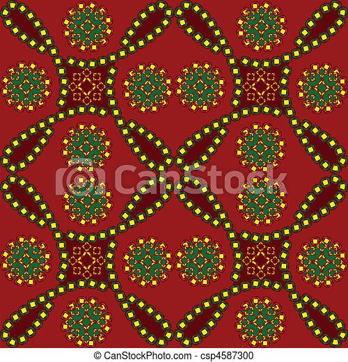 styl, seamless, etniczny - csp4587300