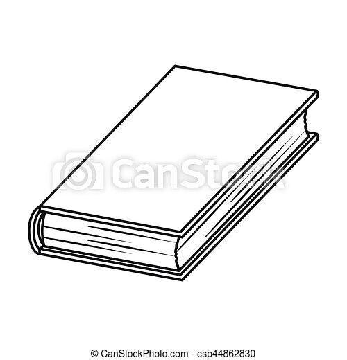 Styl Szkic Ikona Symbol Odizolowany Tło Wektor Książki Czarnoskóry Biały Pień Książka Illustration Szkic Ikona Canstock