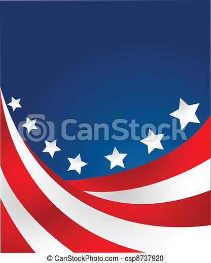 styl, wektor, usa bandera - csp8737920