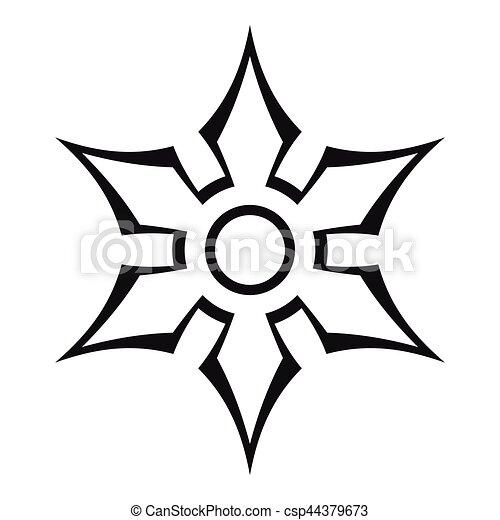 Style toile contour arme ninja ic ne shuriken - Shuriken dessin ...