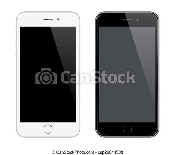 style, aimer, réaliste, mobile, mockup, téléphone, vecteur, conception, iphone - csp26044508