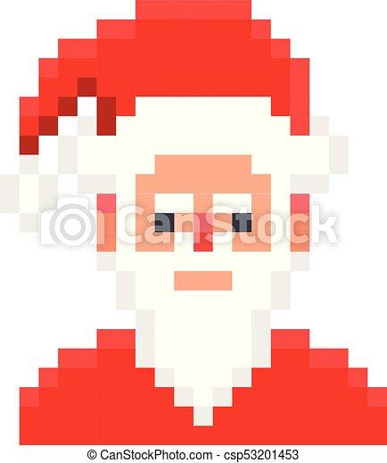 Style Art Claus Pixel Jeu Retro Santa Dessin Animé