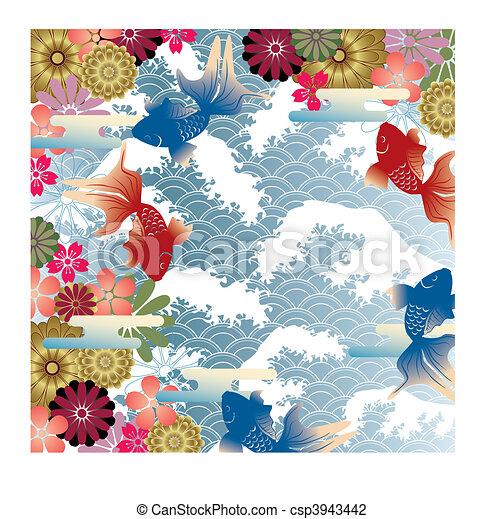 style, asiatique, fond - csp3943442