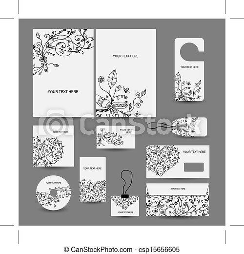 Style Business Enveloppe Design étiquettes Couverture Cd Constitué Cartes Dossier
