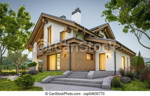 style chalet confortable maison moderne rendre 3d maison t moderne rendre loyer. Black Bedroom Furniture Sets. Home Design Ideas