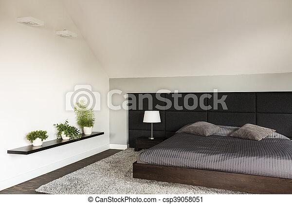 style, chambre à coucher, idée, japonaise