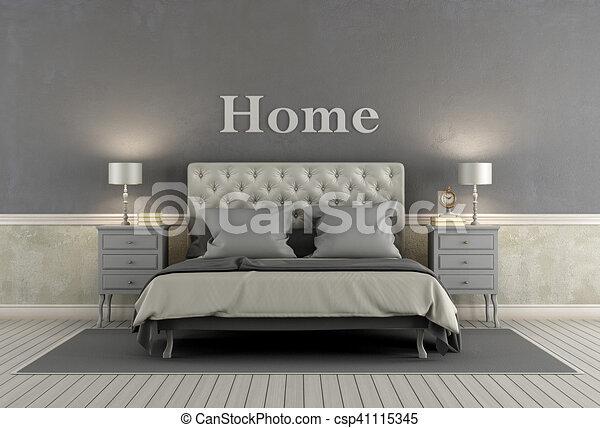 style, chambre à coucher, maître, classique
