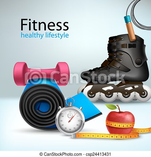 style de vie, fond, fitness - csp24413431