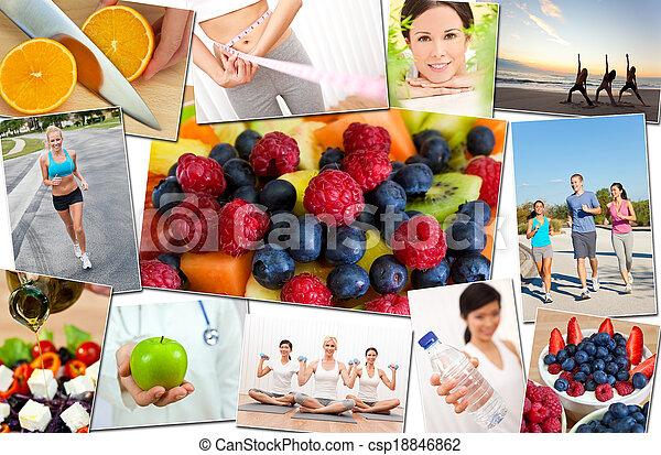 &, style de vie, gens, sain, hommes, exercice, femmes - csp18846862