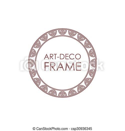 Style Deco Art Linéaire Texte Cadre Decoration Production
