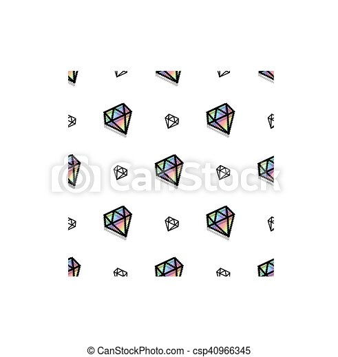 Style Diamant Art Pattern Seamless Mode Fond Pixel