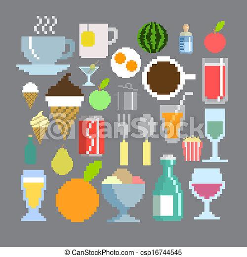 Style Ensemble Art Nourriture Boisson Pixel
