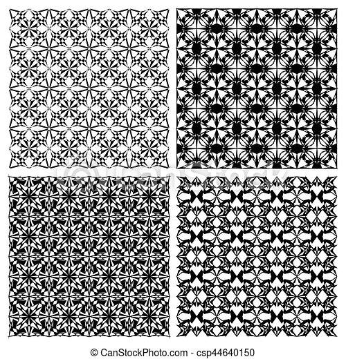 style ensemble art simple monoline motifs deco noir clipart vectoriel rechercher. Black Bedroom Furniture Sets. Home Design Ideas