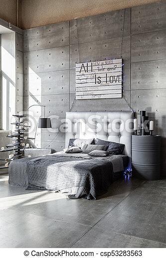 style, fait, grenier, bois, moderne, arbre, gris, main, couleurs, chambre à  coucher, présente., noël, vide