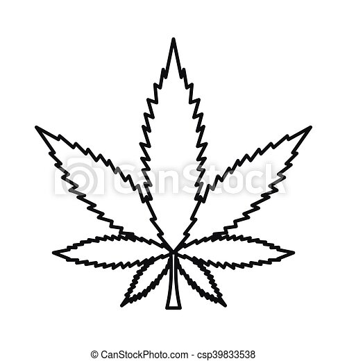 Style Feuille Contour Marijuana Cannabis Icone Style Feuille